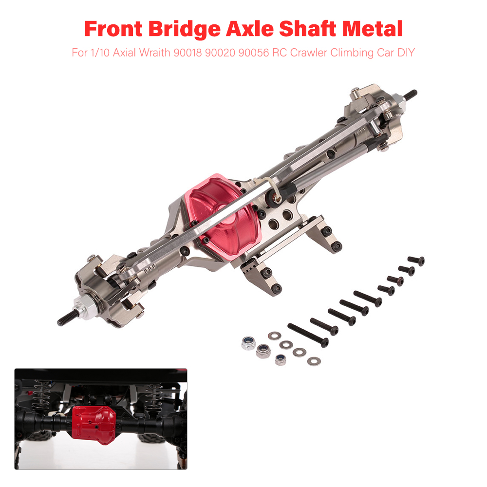 RC Cars Front Bridge Axle Rear Axle Shaft Metal for 1 10 Axial Wraith 90018 90020