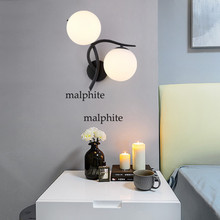 Modern Glass Ball Wall Lamp Led Gold Wall Sconce Loft Industrial Light Living Room Bedroom Stair Home Fixtures Decor Luminaire loft style clear glass wall lamp black metal glass ball wall light bedroom light dining room light free shipping