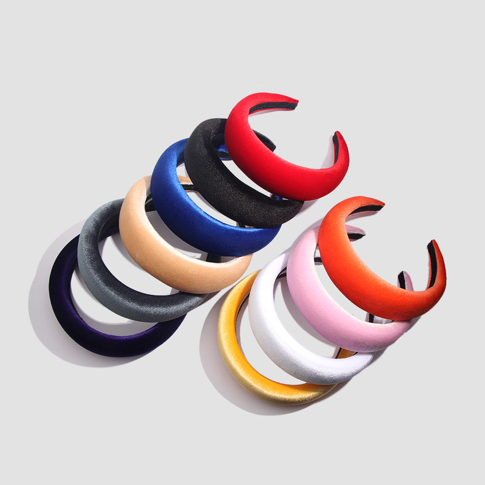 Thick Velvet Women Headbands Hair Accessories Head Band Fashion Headwear 4.5CM Wide Plastic Hairbands For Woman