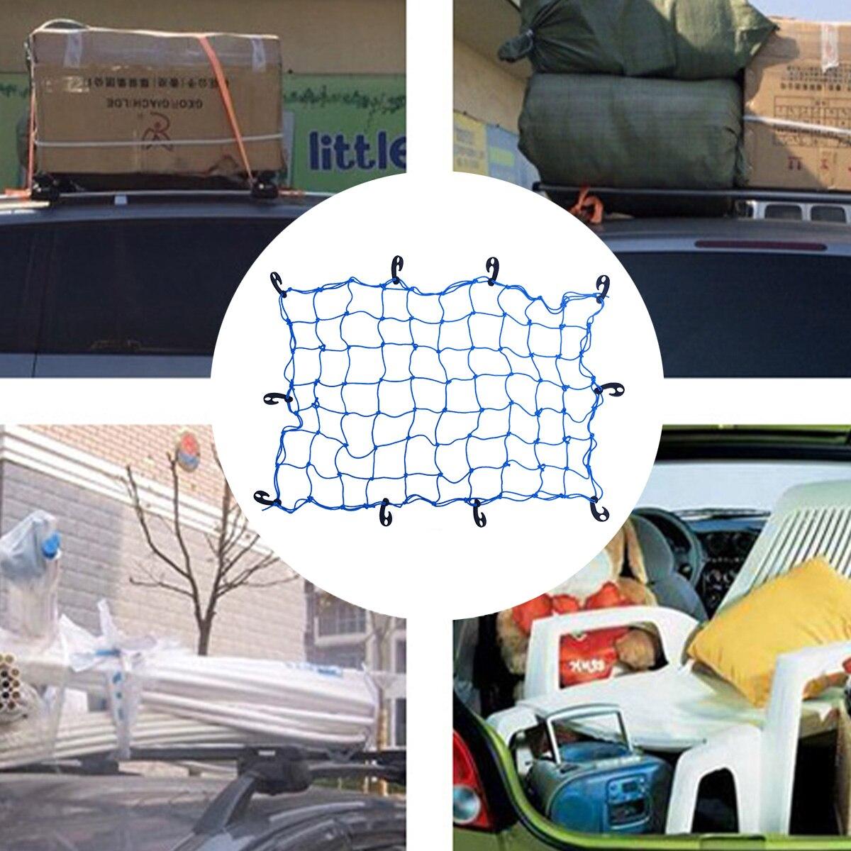 1 Pc Verstelbare Haken Bagagenet Bagage Rack Universele Netto Cover Auto Dak Elastische Mesh Vaste Buitenste Auto Onderdelen Auto Styling Opslag