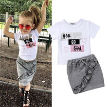 Pudcoco Girl Clothes Summer Kid Baby Girls Cotton Tops T-shi