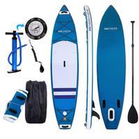 Двухслойная доска для серфинга Универсальная регулируемая подставка для весла надувная 1000D матовая доска для серфинга Paddle Board 330x80x18 см