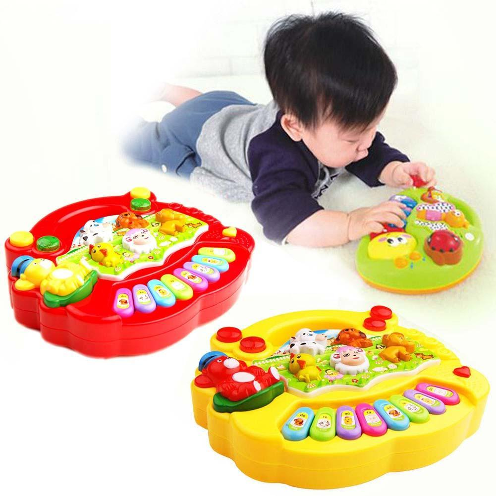 Baby Kids Music Musical Instrument Toy Developmental Animal Farm Piano Luminous Sound Educational Toys For Kids Children Gift