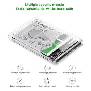 Image 4 - 2.5 Inch USB to SATA Transparent HDD Case USB 3.0 SATA HDD SSD Solid State Drive Hard Disk Enclosure Box Caddy 2TB