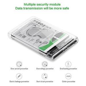 Image 4 - Caja de almacenamiento de disco duro transparente, USB 2,5, SATA, HDD, SSD, 3,0 pulgadas, SATA, Funda de disco duro, Caddy, 2TB