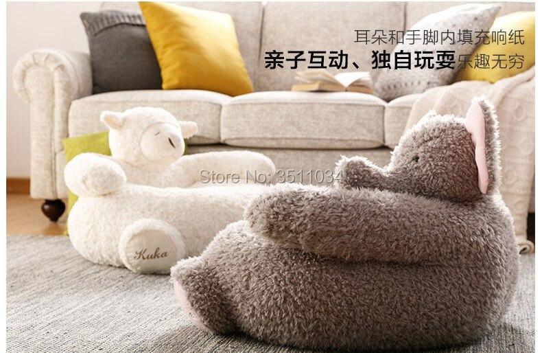 Belle alpaga canapé éléphant canapé pouf paresseux canapé confortable salon loisirs pouf canapé étudiants/enfants tatami chaise