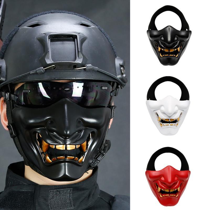 Nueva Moda Airsoft Paintball Máscara Gafas Hannya Máscara De Halloween Ejército De Pistola Paintball Prajna Máscara Accesorios De Caza Accesorios De Fiesta Excelente (In) Calidad