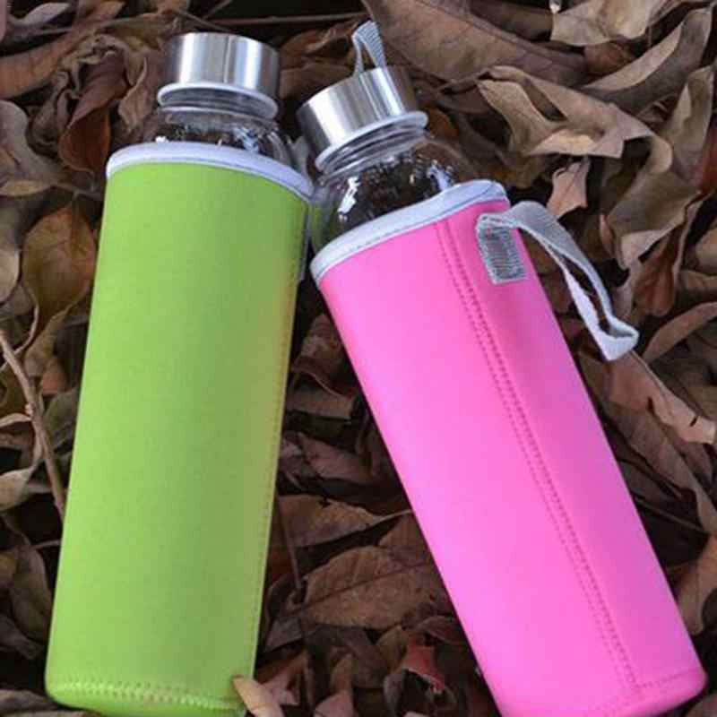 1pc Soft Neoprene Bag For 280/360/420/ 550ml Sport Camping Hike Running Water Vacuum Cup Bottle Bag Water Rug Bottle Cover