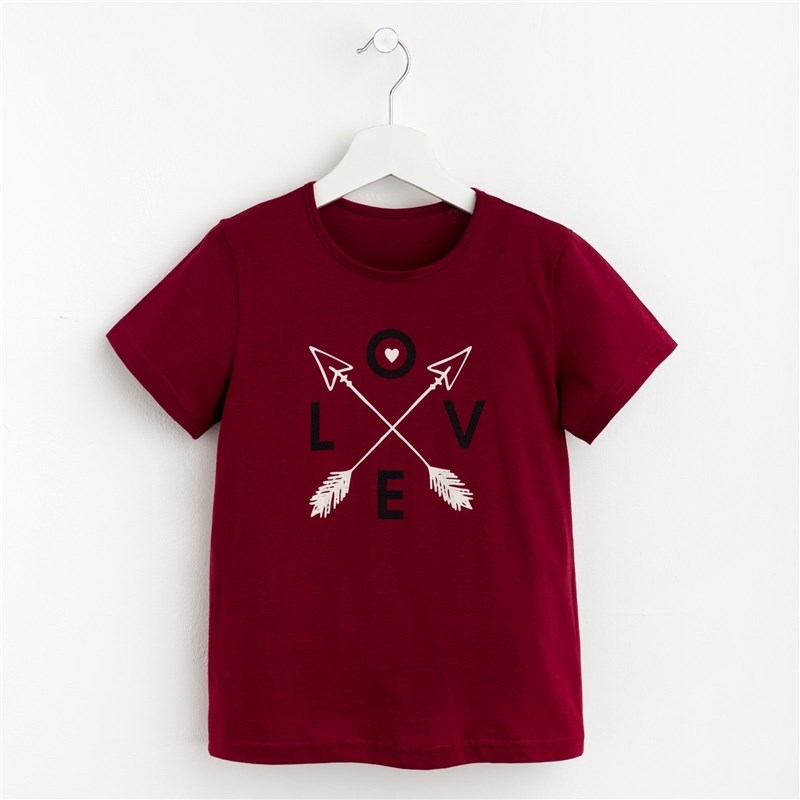 T-shirt for girls Love P. 32 (110-116 cm), red dress 92 116 cm