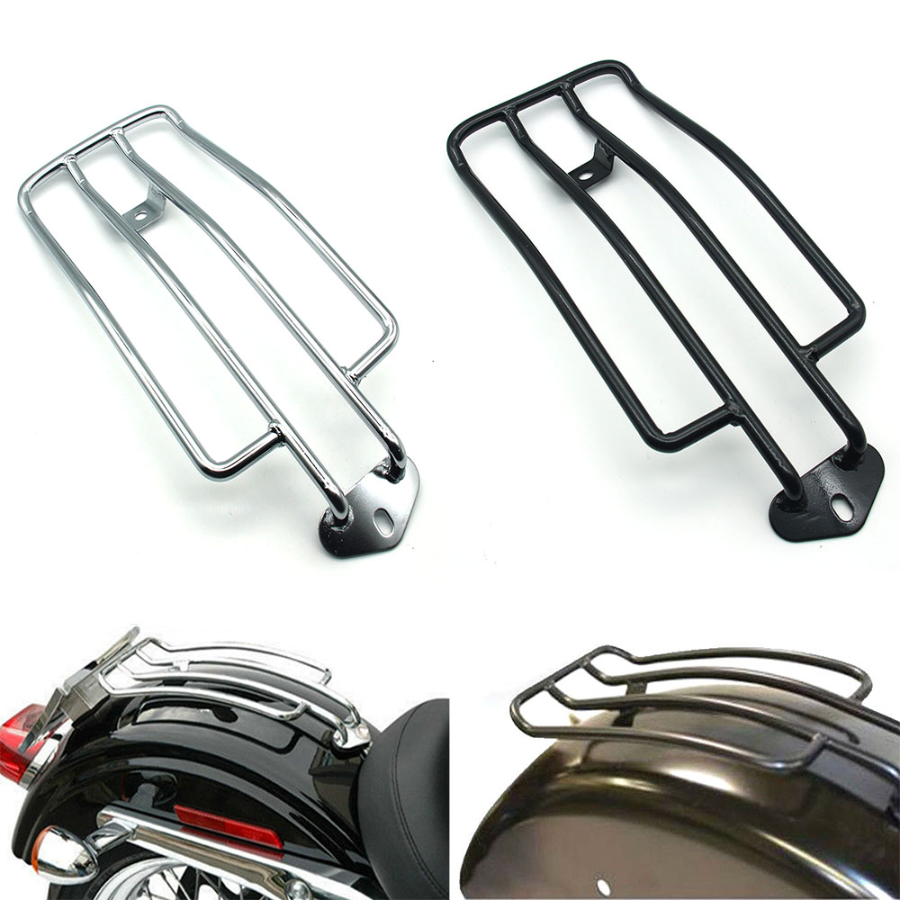Rear Steel Fender Solo Seat Luggage Rack Chrome For Harley Touring 1997-2015 US