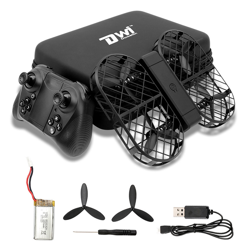 Dwi Dowellin D7 Foldable RC Drone with 2MP HD WiFi Camera / Altitude Hold / G-sensor Control / Headless Mode / 3D FlipDwi Dowellin D7 Foldable RC Drone with 2MP HD WiFi Camera / Altitude Hold / G-sensor Control / Headless Mode / 3D Flip