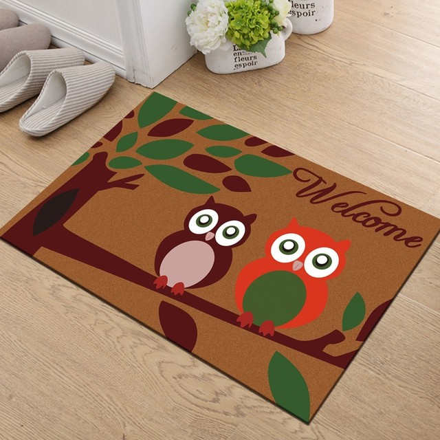 Anti-slip entrance rug – cat welcome