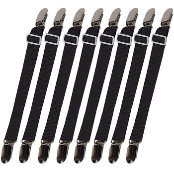 8 шт., ремни-подтяжки для простыни, регулируемые зажимы для фиксации углов кровати, эластичные застежки, наматрасник, наматрасник