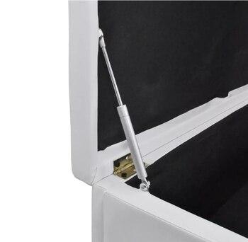 Vidaxl Multifunktionale Weiß Padded Polster Bank Mit Lagerung Box PVC Bench Schrank Kaffee Stuhl Bar Verwenden Lange Sitz