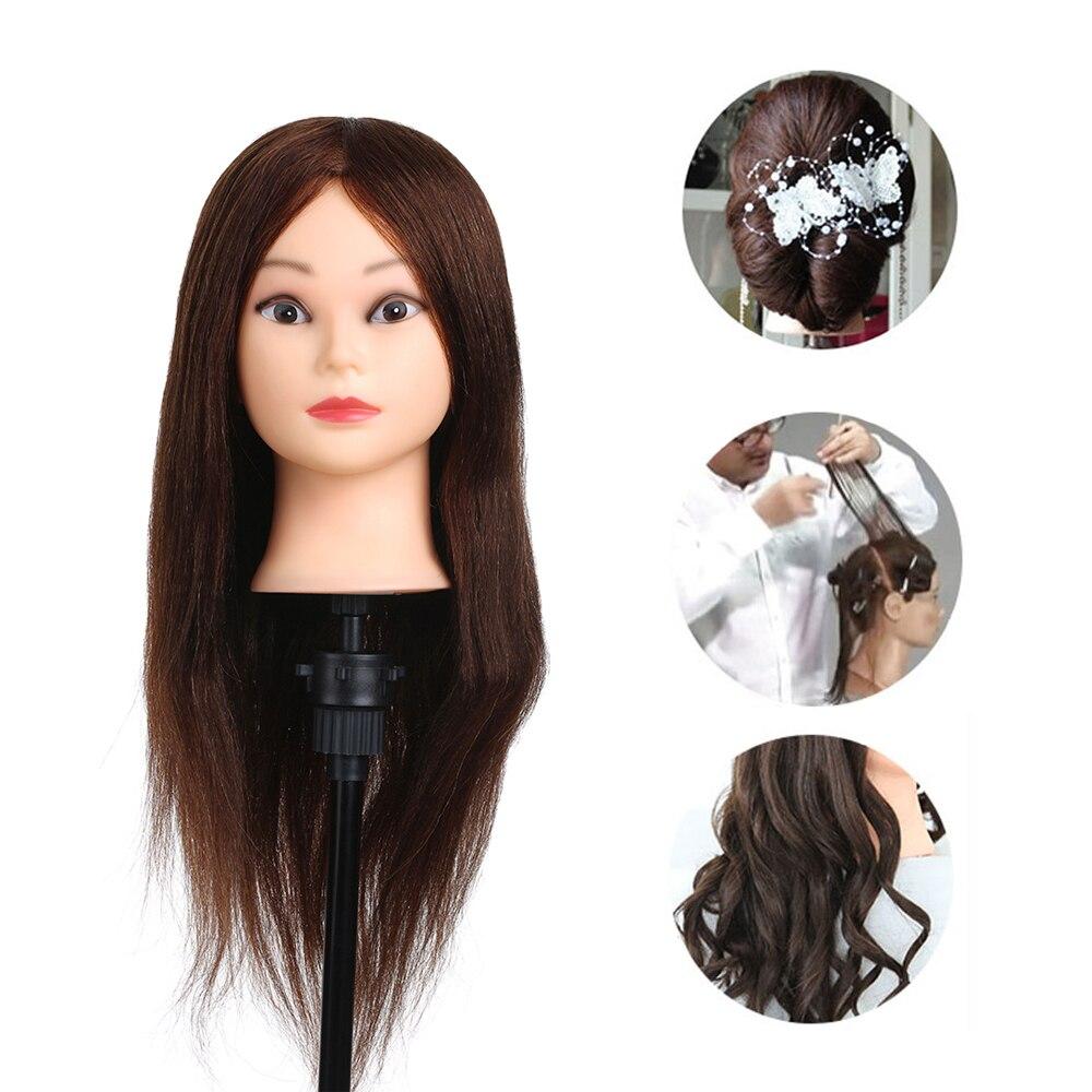 """female 14"""" 100% natural human hair mannequin head"""