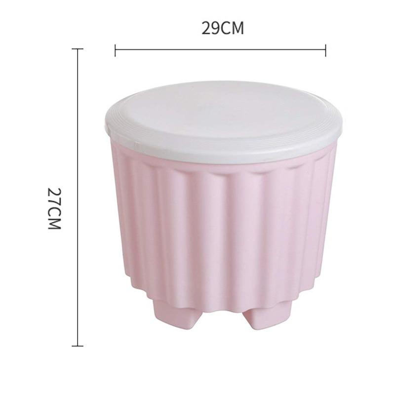 Creatieve Indoor Milieu Prullenbak Plastic Kruk Vuilnis Mand Tafel Thuis Prullenbak Keuken Woonkamer Prullenbak