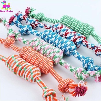 10PCS/pack Dog Toys Cotton Rope Pet Toys Tooth Cleaning Puppy Dolls Small To Medium Dog Supplies
