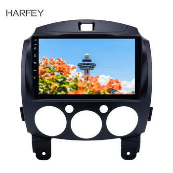 Harfey Radio GPS Navigatio Android 8.1 9inch for 2007-2014 MAZDA 2/Jinxiang/DE/Third generation with Bluetooth USB WIFI OBD2 DVR