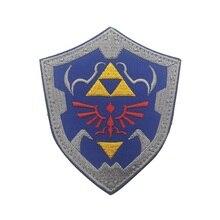 Легенда о Зельде щит вышивка патч, вышитые патчи Военная Тактическая Наплечная Марка повязки аппликация вышивка для одежды