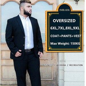 Suit Men 3 Piece Suits Wedding Suits With Pants Groom Plus Size 5XL 6XL 7XL 8XL 9XL Terno Black Blue Formal Business Clothes Set