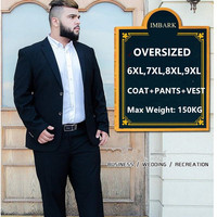 Suit Men 3 Piece Suits Wedding Suits With Pants Groom Plus Size 5XL 6XL 7XL 8XL 9XL Terno Black Blue Formal Business Clothes Set