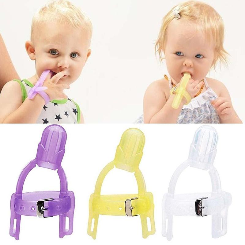 Nontoxic Silicone Baby Kids Child Finger Guard Stop Thumb Sucking Wrist -6576