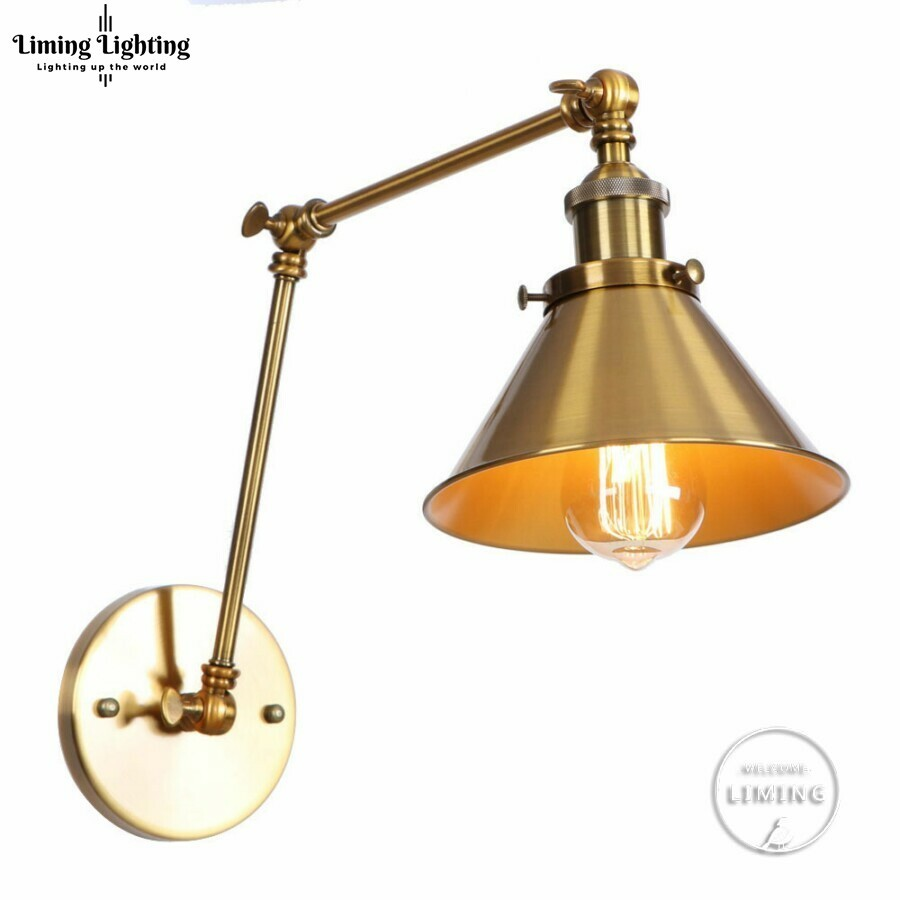 retro Arm Vintage Wall Lamp Sconce Beside Bedroom Stair Hallway Golden Style Loft Industrial Wall Light Fixtures Luminaria LEDretro Arm Vintage Wall Lamp Sconce Beside Bedroom Stair Hallway Golden Style Loft Industrial Wall Light Fixtures Luminaria LED
