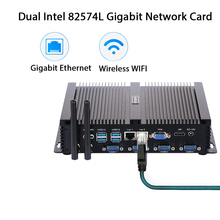 Fanless Industrial PC,Mini Computer,Windows 10 Pro/Linux ,Intel Celeron 1007U,[HUNSN MA03I],(1VGA/1HD/4USB2.0/4USB3.0/2LAN)