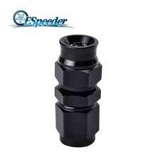 ESPEEDER черный поворотный PTFE Алюминиевый шланг концевой фитинг прямой для масла топливной линии трубы к гнезду адаптер AN3