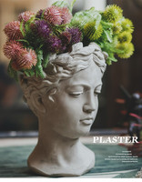 Creative Cement Pot Artifical Flower Vase Venus Goddess Statue Flower Vase Pot Retro Art Vase Garden Outdoor Decoration Vase