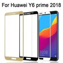 ป้องกันสำหรับ Huawei Y6 PRIME 2018 แก้ว Y 6 PRIME 2018 Honor 7A 7C 7 หน้าจอ Protector กระจกนิรภัยป้องกันฟิล์ม