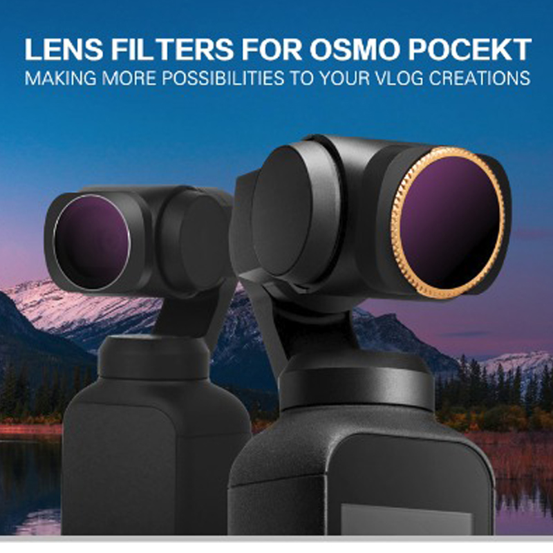 Image 2 - New Optional Camera Lens Filter Kit OSMO POCKET ND4/8/16/32/64 PL CPL UV Filters Set for DJI OSMO POCKET-in Sports Camcorder Cases from Consumer Electronics