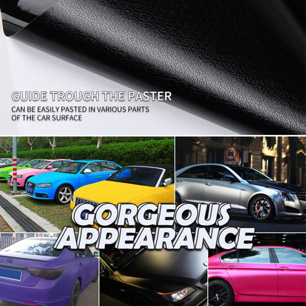 152CMX60CM Matte Black Vinyl Car Wrap Car Motorcycle Scooter DIY Styling Adhesive Film Sheet With Air Bubble Stickers