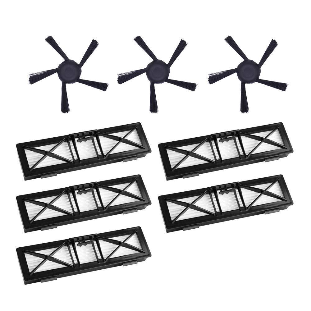 Ультра производительные фильтры и 3 шт 5-руки обновлен боковые щетки Замена Комплект для Neato подключен D5 D6 D7 поддержкой Wi-Fi 5 шт