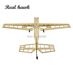 Image 4 - RC Plane Laser Cut Balsa Wood Airplanes Kit 1.5 2.5cc nitro trainer Frame without Cover Free Shipping Model Building Kit