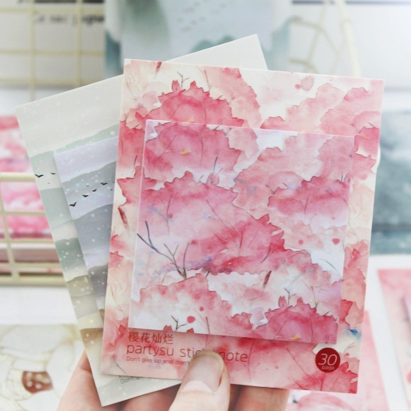 1PC Creative New Cherry Blossoms Memo Pad Paper Post Sticky Notes Notepad Stationery Papeleria Office School Supplies
