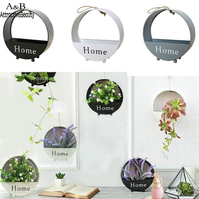 Round Basket Simple Hanging Wall Balcony And Decoration Flower