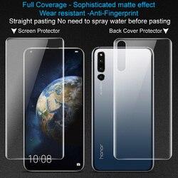 2 sztuk pełne pokrycie dla Huawei Honor magia 2 ekran protector tylna pokrywa Imak hydrożel matowe gra Film matowy dla gry mobilne