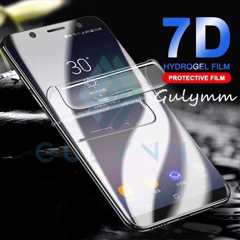 7D Curved Full Cover Hydrogel Film For Samsung A6s A8s A9s HD Screen Protector For Galaxy J 3 4 6 A6 8 2018 S10 Plus Soft Film
