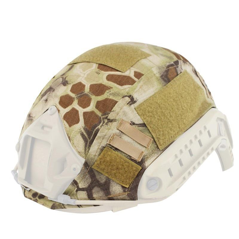 Nouveau casque d'armée en plein air Fans Camouflage casque chaud Camouflage hik casque couverture Cs champ tissu hommes et femmes pièces de casque en plein air