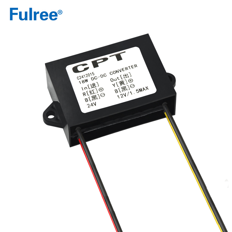 18W 24V to 12V 1500mA DC DC Power Converter 24VDC to <font><b>12VDC</b></font> 1.5A Car Power <font><b>Adapter</b></font> Regulator Module for CCTV Monitor image