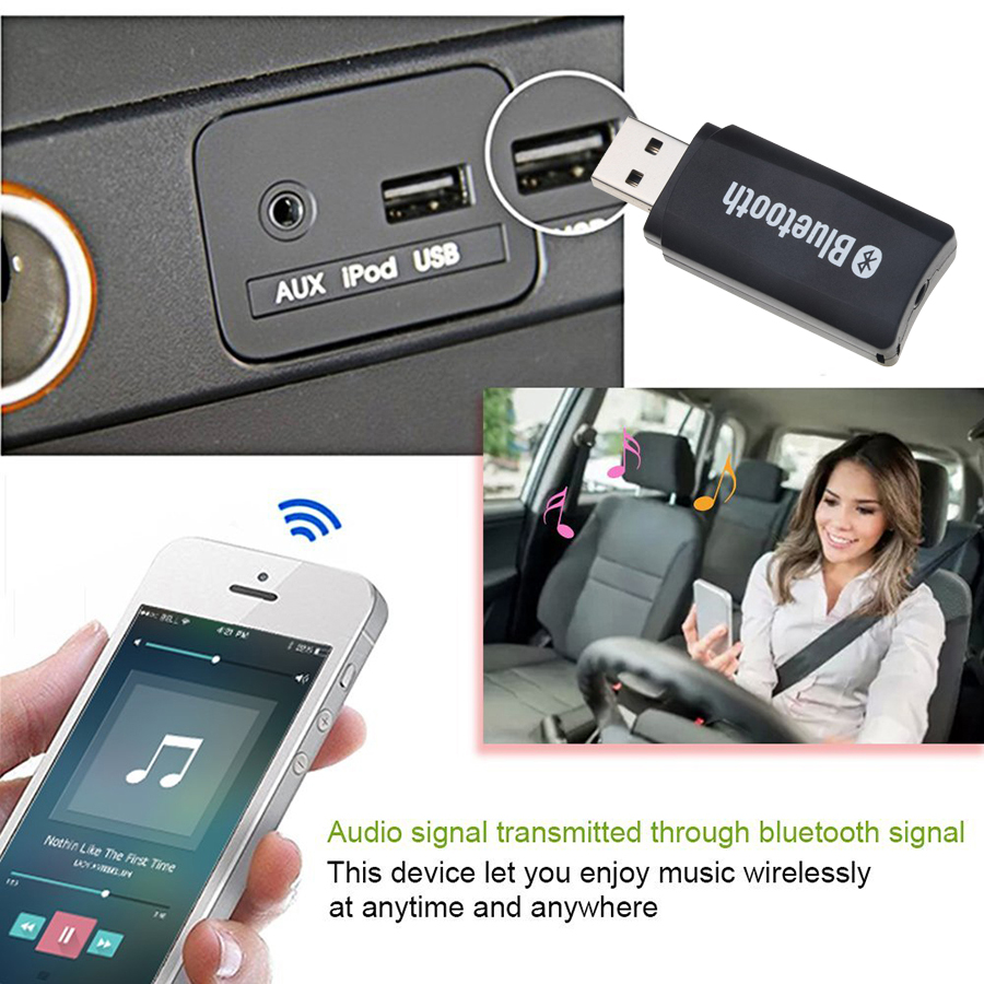 3.5 Bluetooth Aux Wireless Portable Mini Car Kit Bluetooth Music Mp3 Audio Receiver Adapter 3.5mm Stereo