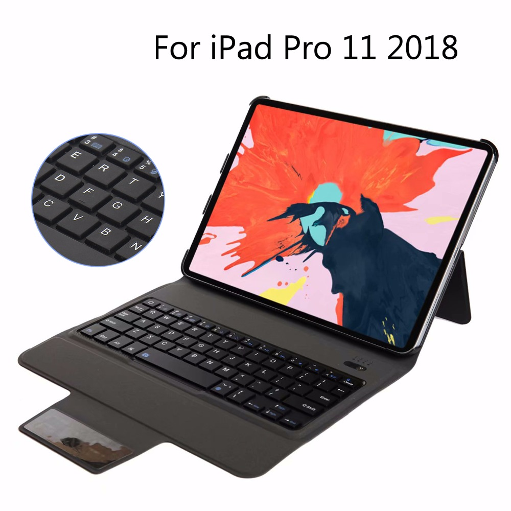 New Ultra thin Wireless Bluetooth Keyboard Case Cover For iPad Pro 11 2018 A1934 A1980 A2013