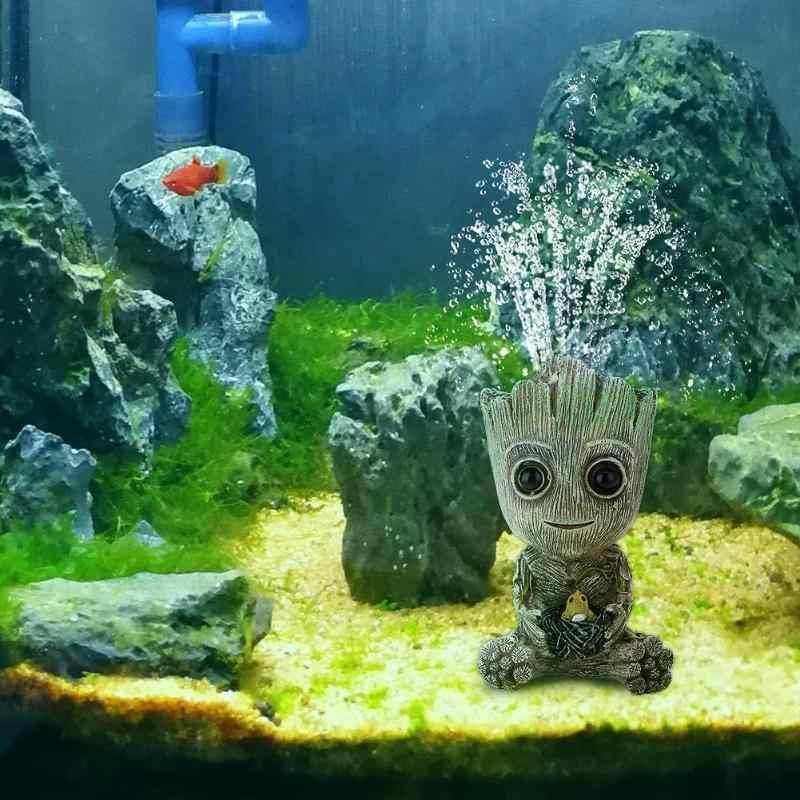 Bella Mini Albero di Aquarium Fish Tank Decor Pompa Ossigeno Pompa di Aria Bubble Pietra Azionamento della Pompa di Aria Serbatoio di Pesce Giocattolo Acquario Ornamento decor