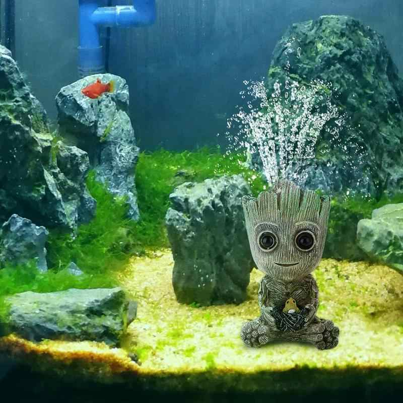 Precioso Mini árbol acuario pecera decoración bomba de oxígeno burbuja de aire piedra bomba de aire bomba de empuje pecera de juguete acuario decoración ornamental