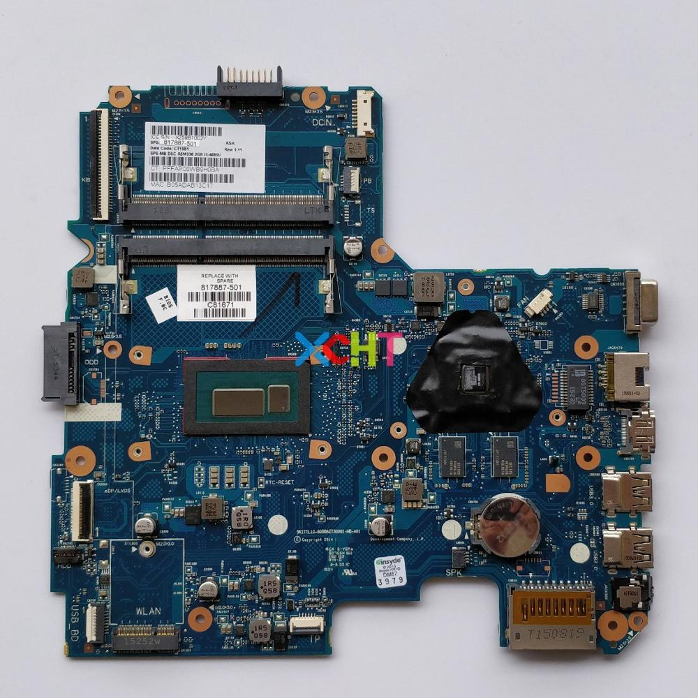 817887 501 817887 001 817887 601 w i3 4005U CPU 6050A2730001 MB A01 w R5/M330 2G for HP 240 G4 Laptop PC Motherboard Mainboard-in Laptop Motherboard from Computer & Office
