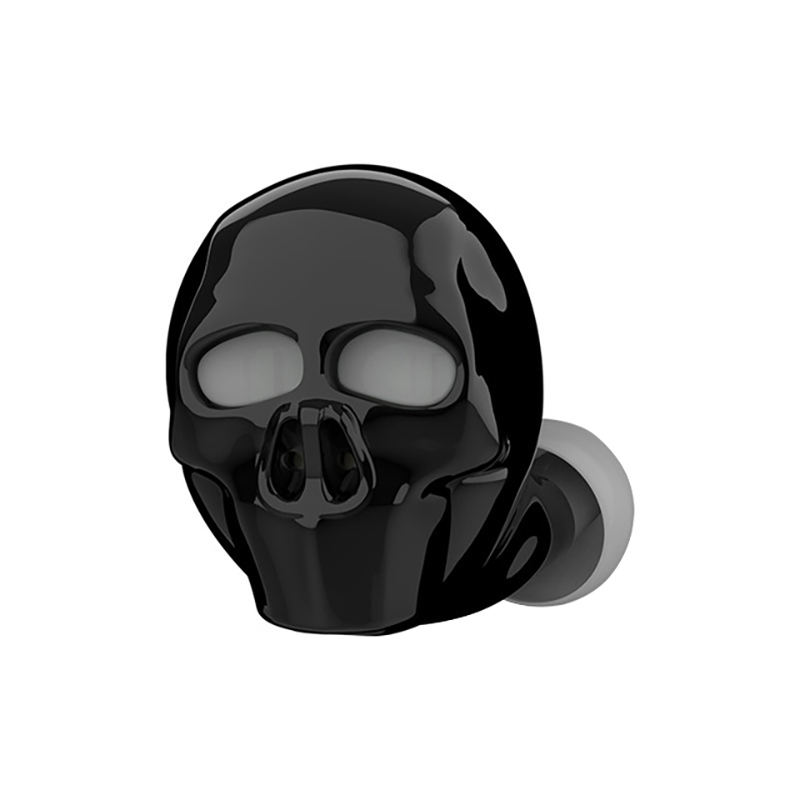 New Skull Bone Bluetooth Earphone With Microphone Noise Cancelling Hi-Fi Handsfree Bass Stereo Mini Earbud Earpiece