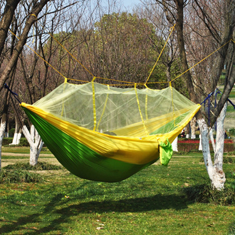 DIY Portable Camping Mosquito Net Nylon Hammock Outdoor Hanging Bed Sleeping Swing
