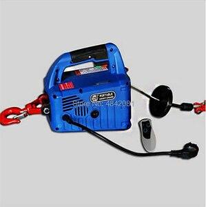 Image 3 - 500kg 7.6m três em uma grua de levantamento elétrica portátil da corda do fio de aço do bloco da tração da mão do guincho