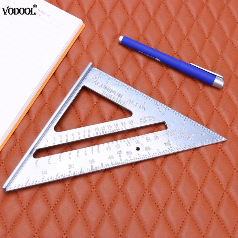 Aluminum Alloy Speed Square Protractor Miter Framing Tri-square Line Scriber Saw Guide Measurement Meter Square Carpenter Ruler